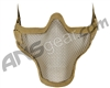 1G Strike Steel Half Airsoft Mask - Tan