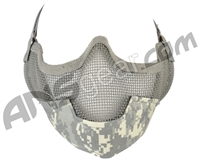 3G Strike Steel Airsoft Mask w/ Ear Protectors - ACU