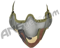 3G Strike Steel Airsoft Mask w/ Ear Protectors - Jungle Camo