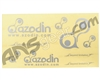 Azodin Paintball Sticker Sheet - Silver