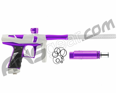 Bob Long Victory V-COM Paintball Gun - Dust White/Purple