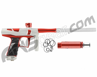 Bob Long Victory V-COM Paintball Gun - Dust White/Red