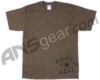 BT Paintball Born To Kill Men's T-Shirt - Olive