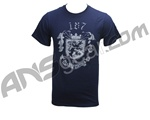 Bunker King Paintball T-Shirt 187 Crest - Navy