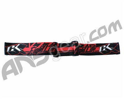 Contract Killer Goggle Strap - Black/Red Fight Life