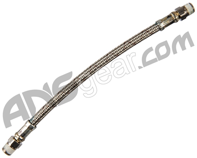 "Stainless Steel Braided High Pressure Hose - 8"" Length"