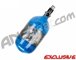 Crossfire SS Graffiti Series Carbon Fiber Compressed Air Tank 68/4500 w/ Custom Products Regulator - Candy Blue