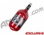 Crossfire SS Graffiti Series Carbon Fiber Compressed Air Tank 68/4500 w/ Custom Products Regulator - Candy Red