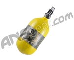 Crossfire SS Graffiti Series Carbon Fiber Compressed Air Tank 68/4500 w/ Custom Products Regulator - Canary Yellow