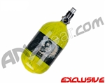 Crossfire SS Graffiti Series Carbon Fiber Compressed Air Tank 68/4500 w/ Custom Products Regulator - Neon Yellow