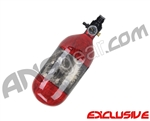 Crossfire SS Graffiti Series Carbon Fiber Compressed Air Tank 45/4500 - Candy Red