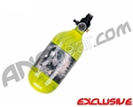 Crossfire SS Graffiti Series Carbon Fiber Compressed Air Tank 45/4500 - Neon Yellow