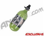 Crossfire SS Graffiti Series Carbon Fiber Compressed Air Tank 45/4500 - Olive
