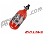 Crossfire SS Graffiti Series Carbon Fiber Compressed Air Tank 45/4500 - Red