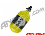 Crossfire SS Graffiti Series Carbon Fiber Compressed Air Tank 68/4500 - Neon Yellow
