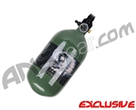 Crossfire SS Graffiti Series Carbon Fiber Compressed Air Tank 68/4500 - Olive Drab