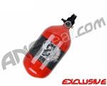 Crossfire SS Graffiti Series Carbon Fiber Compressed Air Tank 68/4500 - Red