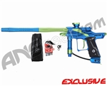 Dangerous Power Fusion FX Paintball Gun - Blue/Neon Green
