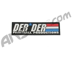 "Der Der Flag Sticker - 7 1/2"" x 2 1/4"""