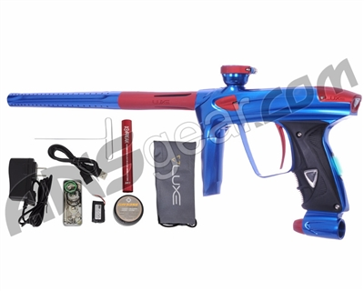 DLX Luxe 2.0 OLED Paintball Gun - Blue/Dust Red