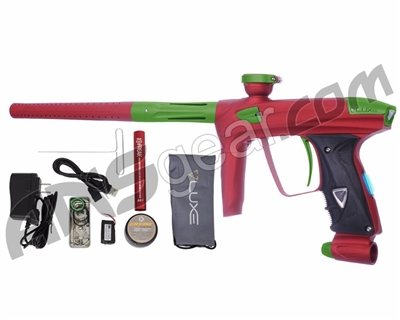 DLX Luxe 2.0 OLED Paintball Gun - Dust Red/Dust Slime Green