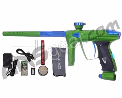 DLX Luxe 2.0 OLED Paintball Gun - Dust Slime Green/Blue