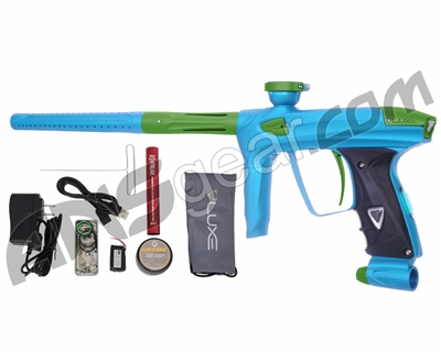 DLX Luxe 2.0 OLED Paintball Gun - Dust Teal/Dust Slime Green