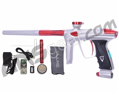 DLX Luxe 2.0 OLED Paintball Gun - Dust White/Red
