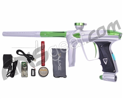 DLX Luxe 2.0 OLED Paintball Gun - Dust White/Slime Green