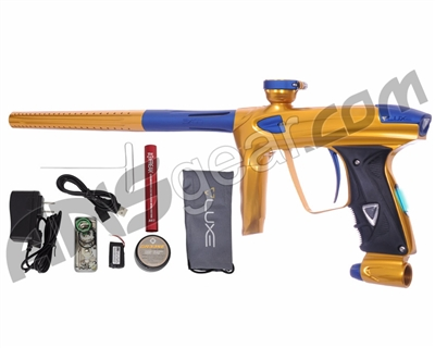 DLX Luxe 2.0 OLED Paintball Gun - Gold/Dust Blue
