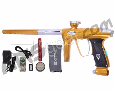 DLX Luxe 2.0 OLED Paintball Gun - Gold/Dust White