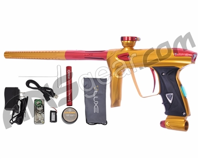 DLX Luxe 2.0 OLED Paintball Gun - Gold/Red