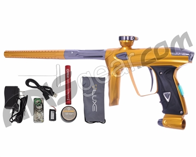 DLX Luxe 2.0 OLED Paintball Gun - Gold/Titanium