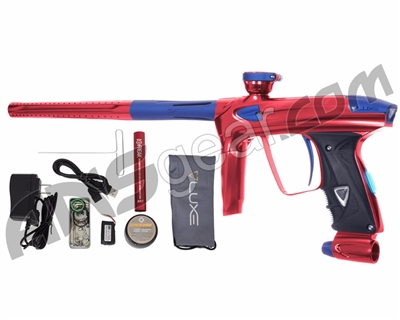 DLX Luxe 2.0 OLED Paintball Gun - Red/Dust Blue
