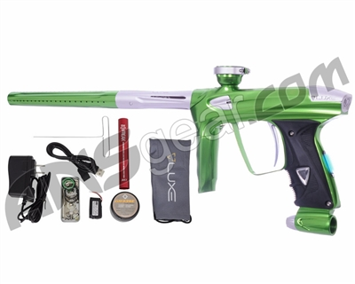 DLX Luxe 2.0 OLED Paintball Gun - Slime Green/Dust White
