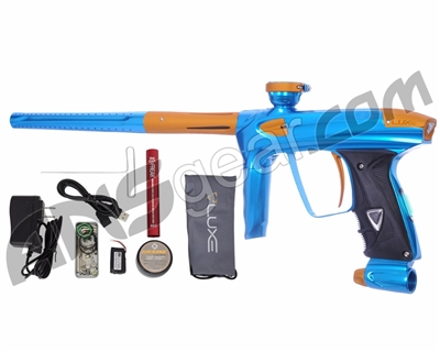 DLX Luxe 2.0 OLED Paintball Gun - Teal/Dust Gold