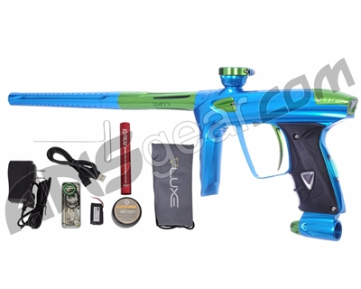 DLX Luxe 2.0 OLED Paintball Gun - Teal/Slime Green