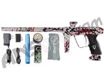 DLX Luxe 2.0 Paintball Gun - Pearl White/Black/Red Splash