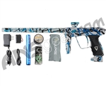 DLX Luxe 2.0 Paintball Gun - Pearl White/Black/Teal Splash