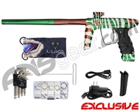 DLX Luxe Ice Paintball Gun - Laser Engraved Stripes - Forest Green/Brown