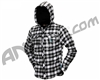 2012 Dye Lumberjack Hooded Flannel - Black