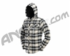 Dye Flannel Hooded Sweatshirt - Blue/Tan
