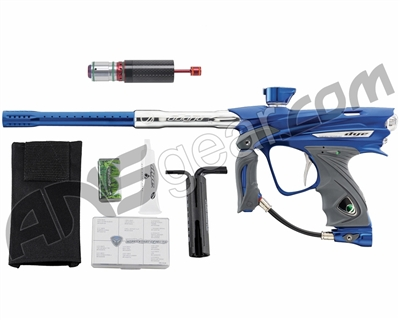 Dye DM13 Paintball Gun w/ CF Billy Wing Bolt - Blue/Clear