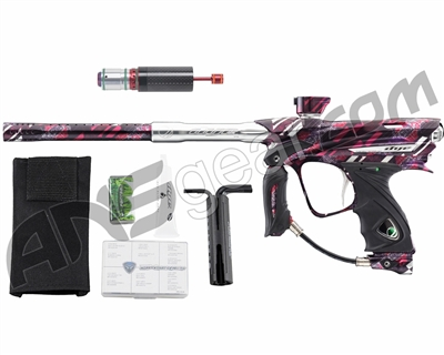 Dye DM13 Paintball Gun w/ CF Billy Wing Bolt - PGA Cubix Red