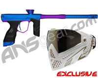 Dye DSR Gun w/ Free White/Gold Dye I5 Mask - Blue/Electric Purple