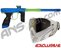 Dye DSR Gun w/ Free White/Gold Dye I5 Mask - Blue/Sour Apple