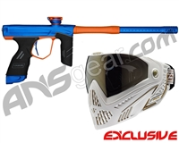 Dye DSR Gun w/ Free White/Gold Dye I5 Mask - Blue/Sunburst Orange