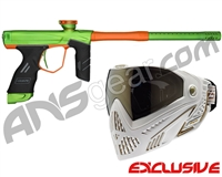 Dye DSR Gun w/ Free White/Gold Dye I5 Mask - Green/Sunburst Orange