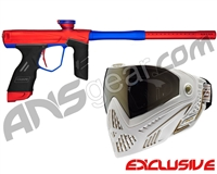 Dye DSR Gun w/ Free White/Gold Dye I5 Mask - Red/Cobalt