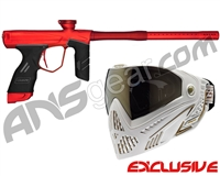 Dye DSR Gun w/ Free White/Gold Dye I5 Mask - Red/Dark Lava